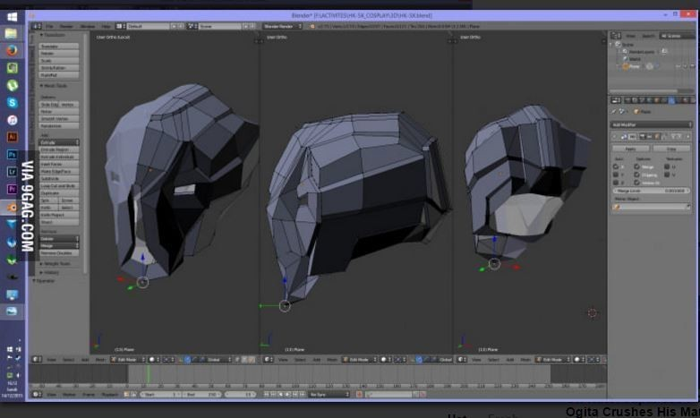 pohled.JPG Download STL file HK47 Assassin Droid - Star Wars - Helmet 3D print model • Template to 3D print, 3D-mon