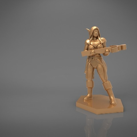 female_ranger-main_render.532.jpg Download STL file ELF RANGER FEMALE CHARACTER GAME FIGURES 3D print model • 3D printing object, 3D-mon