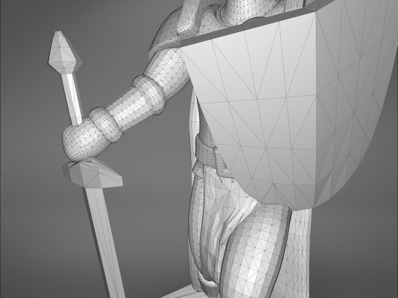 Warrior-detail_3.385.jpg Download STL file ELF WARRIOR CHARACTER GAME FIGURE 3D print model • Object to 3D print, 3D-mon