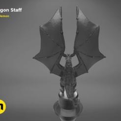 Download STL Dragon Staff, 3D-mon