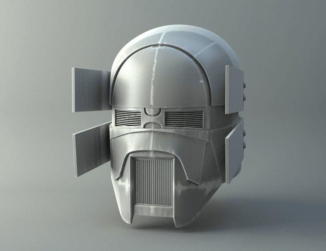 render001.png Download OBJ file Sniper - Knights of Ren Helmet mask, Star Wars 3D print model • 3D printable model, 3D-mon