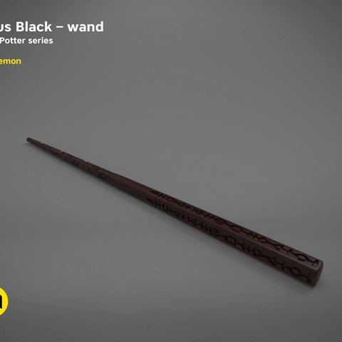 title_page.jpg Download STL file Sirius Black wand - Harry Potter films 3D print model • 3D print object, 3D-mon