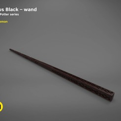 Plan imprimante 3D Sirius Black wand - Harry Potter films Harry Potter 3D modèle d'impression 3D, 3D-mon