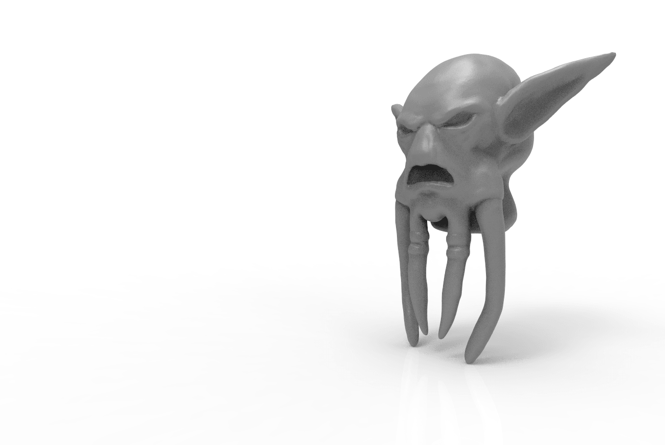 render_scene - kopie.197.png Download STL file Mask of Akama's face from World of Warcraft • Model to 3D print, 3D-mon