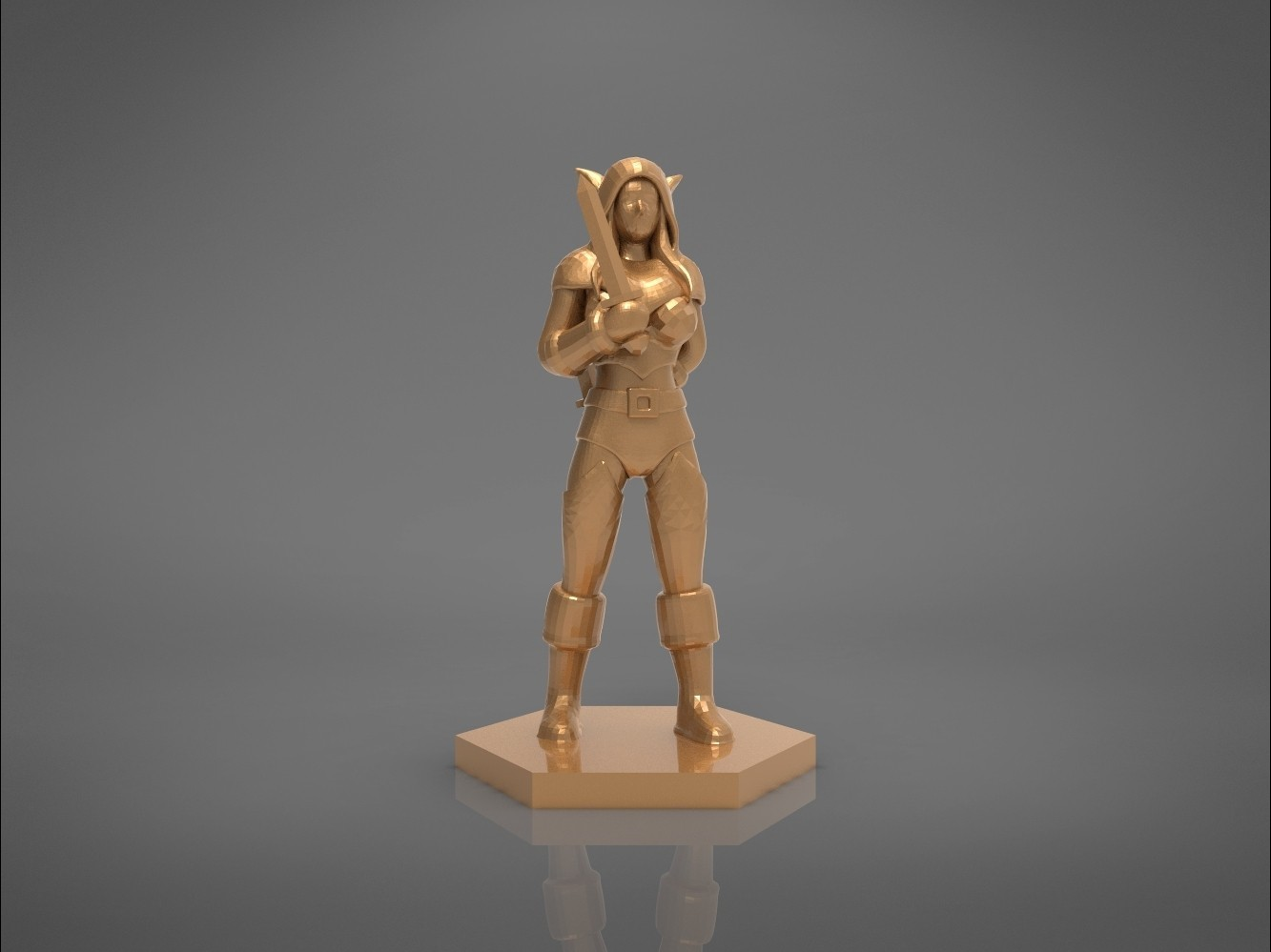 Rogue_2-front_perspective.445.jpg Download STL file ELF ROGUE FEMALE CHARACTER GAME FIGURES 3D print model • 3D printer object, 3D-mon