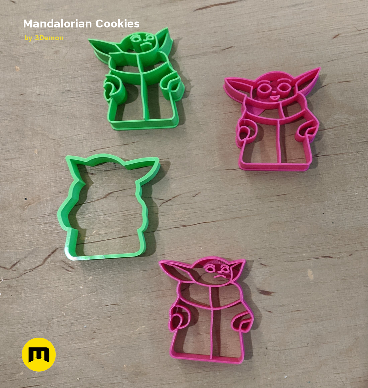 IMG_20191127_133137.png Download STL file Yoda Baby Cookie Cutter Mandalorian • 3D printer design, 3D-mon