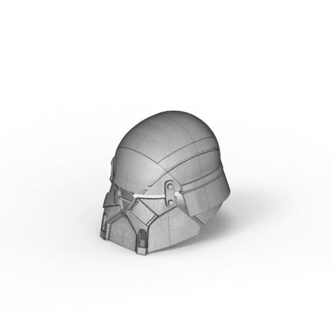 render_scene-isometric_parts.2.png Download STL file Armory - Knights of Ren Helmet, StarWars model for 3D Print • 3D printing design, 3D-mon