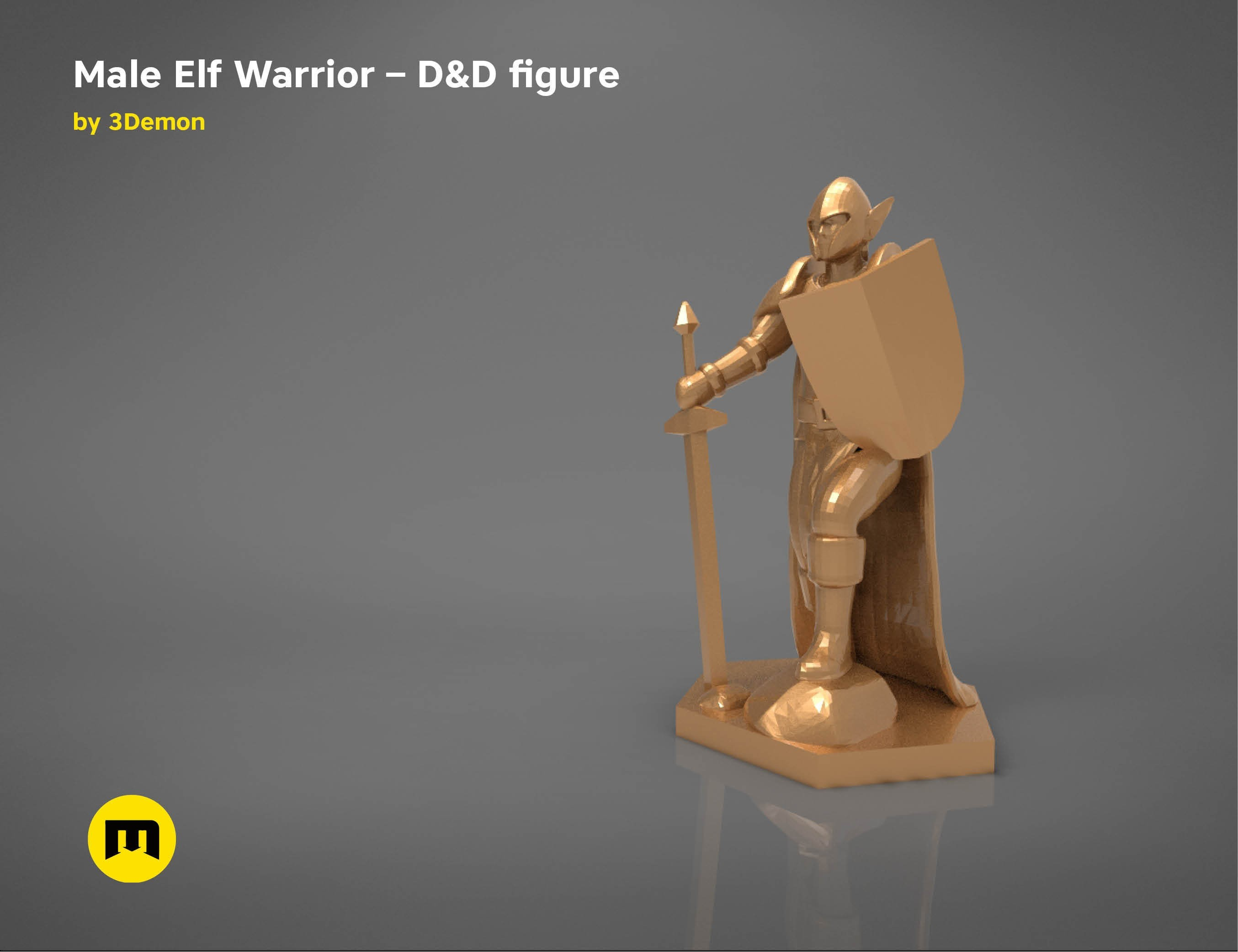 characters6.jpg Download STL file ELF WARRIOR CHARACTER GAME FIGURE 3D print model • Object to 3D print, 3D-mon