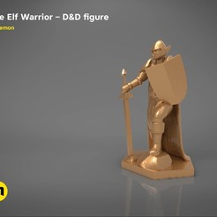 stl files ELF WARRIOR CHARACTER GAME FIGURE 3D print model, 3D-mon