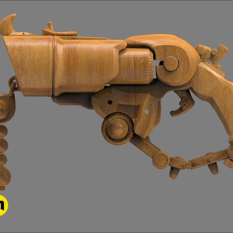 CGTrader_Roadhog_gun_bajie16.jpg Download STL file Overwatch Roadhog Gun Bajie • Model to 3D print, 3D-mon
