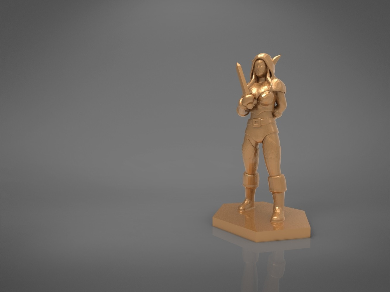 Rogue_2-main_render.443.jpg Download STL file ELF ROGUE FEMALE CHARACTER GAME FIGURES 3D print model • 3D printer object, 3D-mon