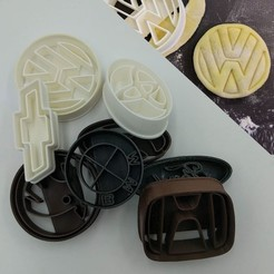 Download 3D printing files Car brands cookie cutters, 3D-mon