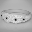 STL Flowers ring, 3D-mon