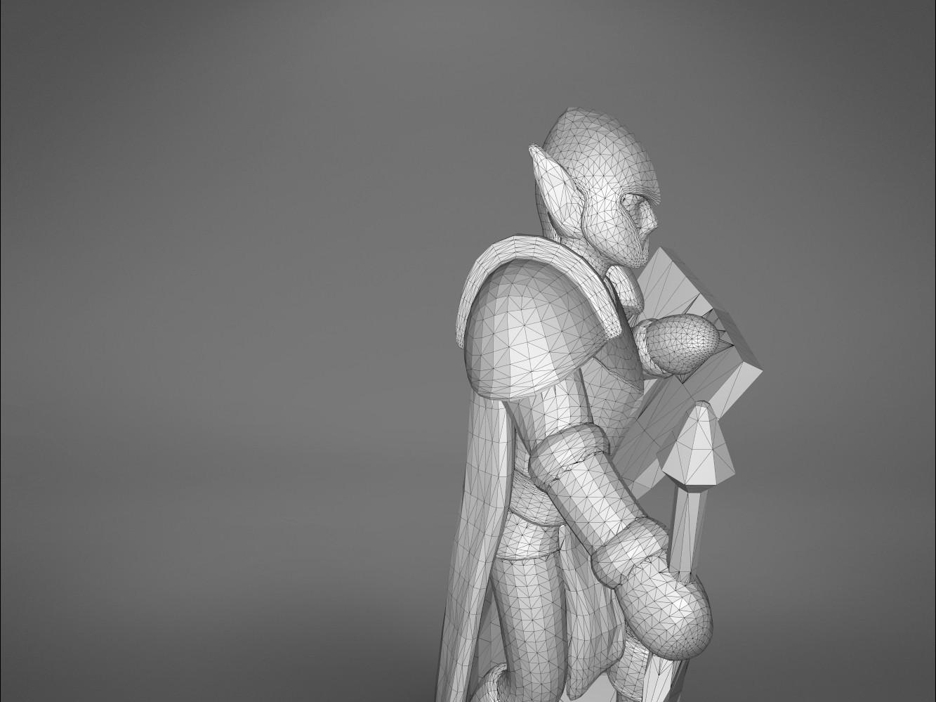 Warrior-detail_1.381.jpg Download STL file ELF WARRIOR CHARACTER GAME FIGURE 3D print model • Object to 3D print, 3D-mon