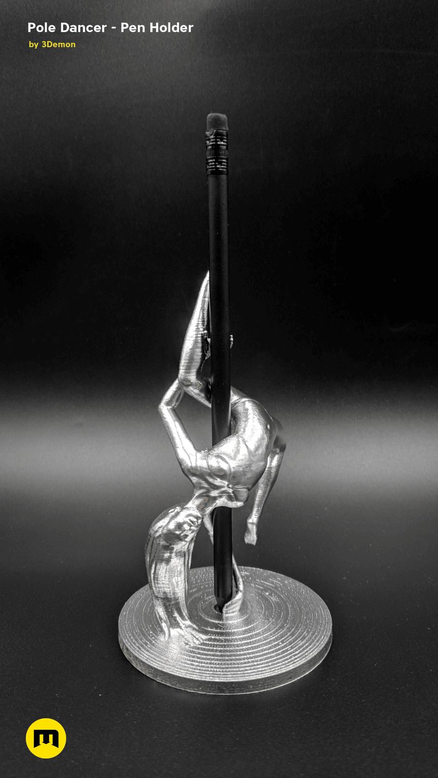 IMG_20190220_103136.png Download STL file Pole Dancer - Pen Holder • Object to 3D print, 3D-mon