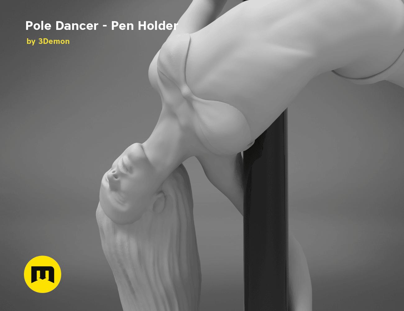 poledancer-detail1.176.png Download STL file Pole Dancer - Pen Holder • Object to 3D print, 3D-mon
