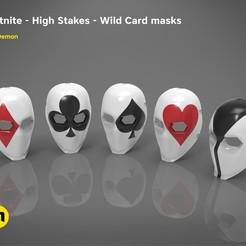 Download 3D printing designs Fortnite - Wild Card masks, 3D-mon