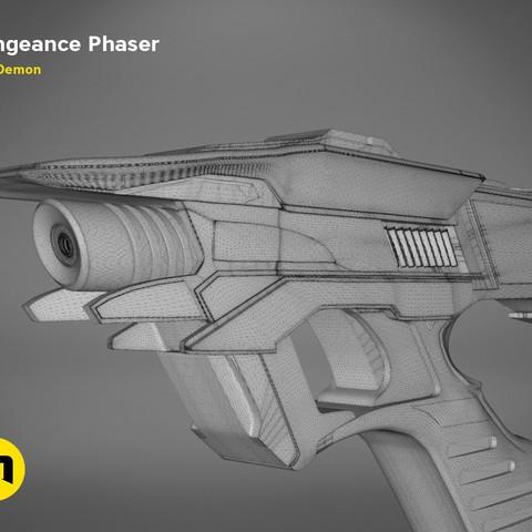 Vengeance-mesh.340.jpg Download OBJ file Vengeance Phaser -Star Trek • 3D printer object, 3D-mon