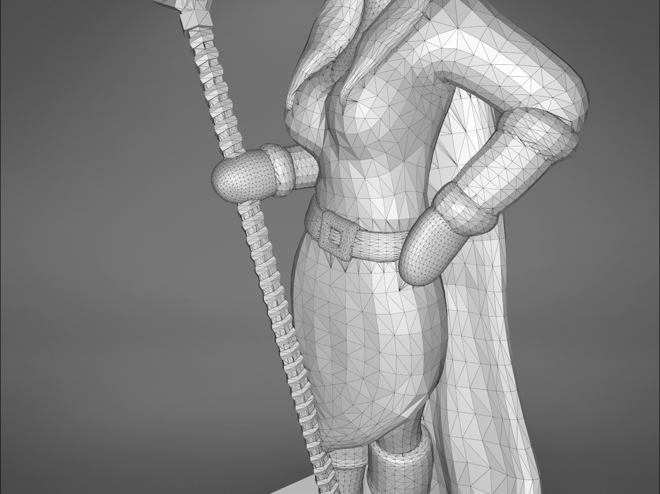 Mage_2_-detail_3.187.jpg Download STL file ELF MAGE FEMALE CHARACTER GAME FIGURES 3D print model • 3D printing template, 3D-mon