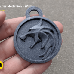 Download 3D printing files Witcher Medalion - Wolf, 3D-mon