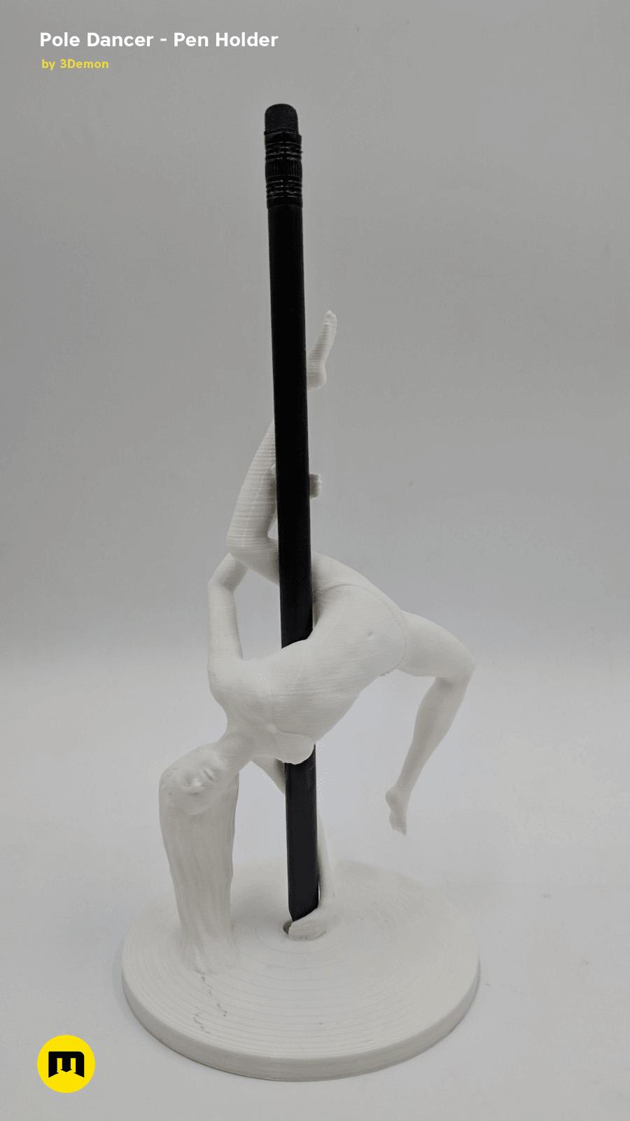 IMG_20190219_142139.png Download STL file Pole Dancer - Pen Holder • Object to 3D print, 3D-mon