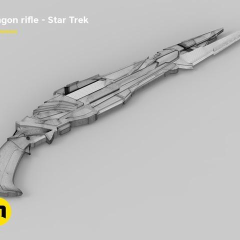 render_rifle_mesh.805.jpg Download STL file Klingon rifle • Model to 3D print, 3D-mon