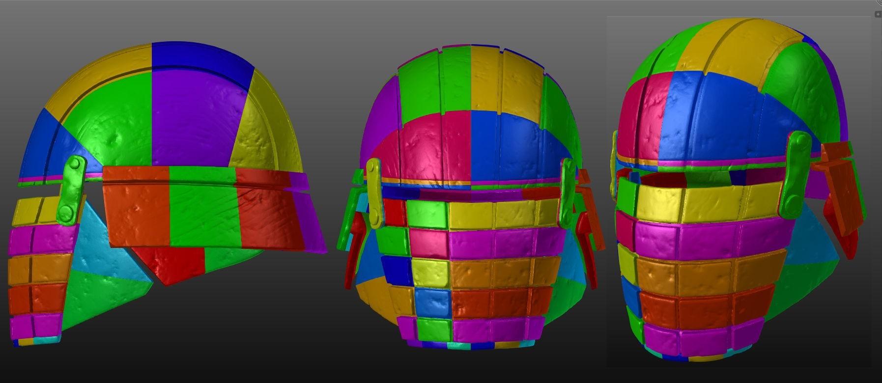 Infographic.jpg Download OBJ file Rogue - Knights of Ren Helmet (damaged), 3D print model • 3D print design, 3D-mon