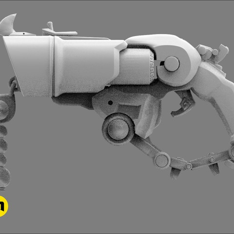 CGTrader_Roadhog_gun_bajie5.jpg Download STL file Overwatch Roadhog Gun Bajie • Model to 3D print, 3D-mon