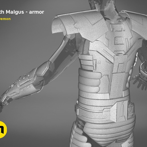render_scene_darth-malgus-armor-mesh.22 kopie.jpg Download STL file Darth Malgus's full size armor • Design to 3D print, 3D-mon