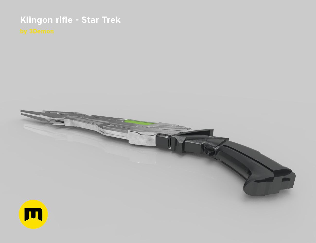 render_rifle_color.905.jpg Download STL file Klingon rifle • Model to 3D print, 3D-mon