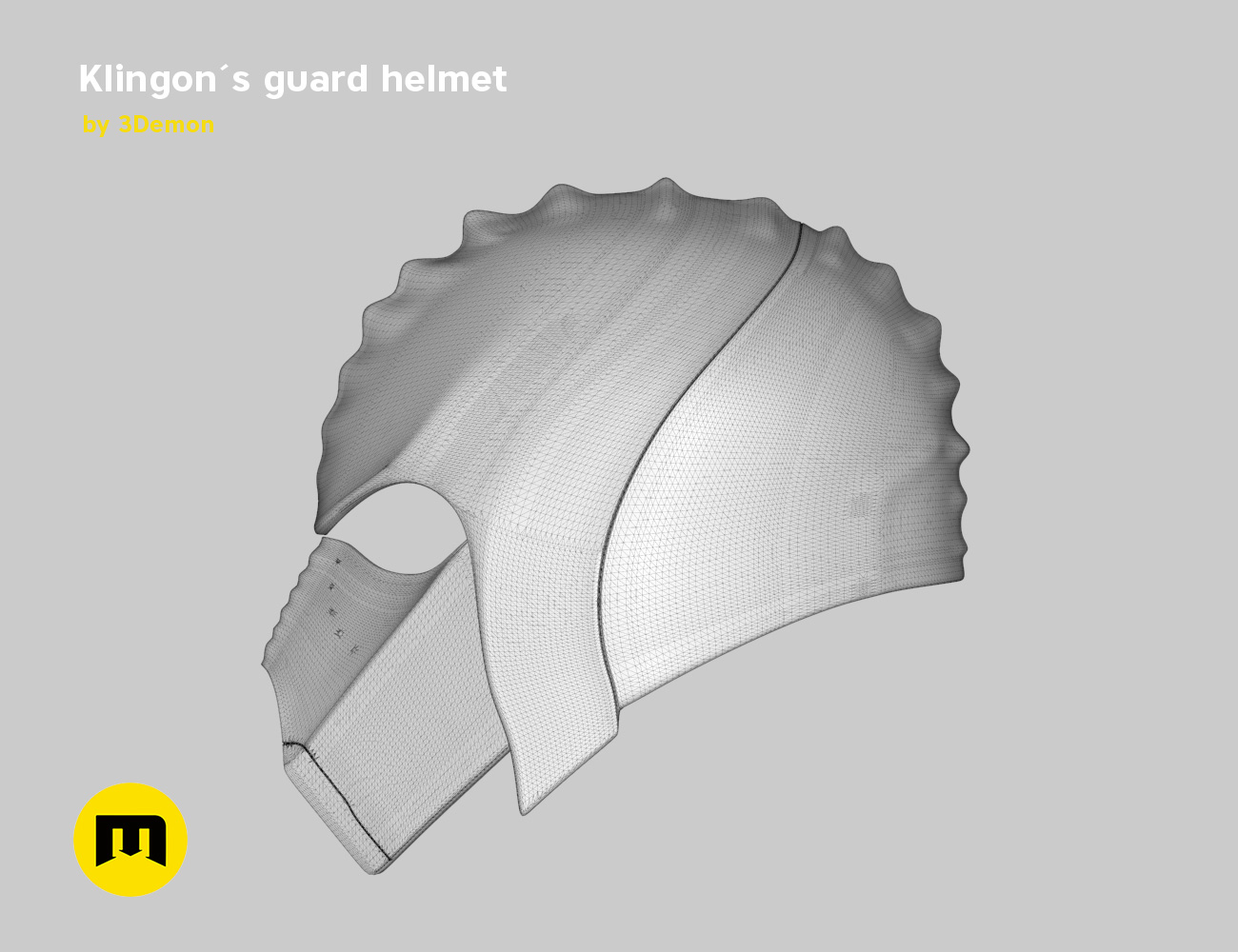 render_klingon_mesh.46.jpg Download STL file Klingon guard helmet • 3D printer object, 3D-mon