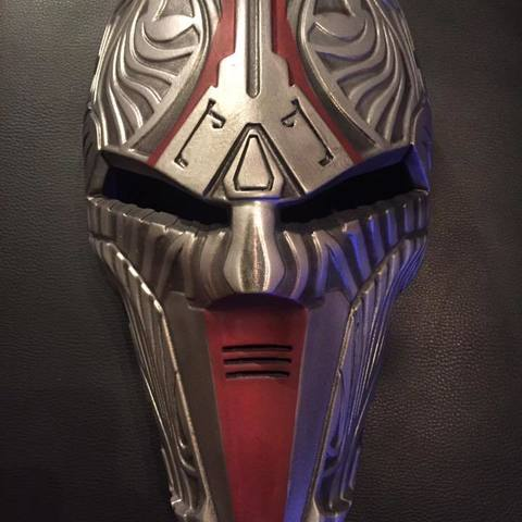 image about Printable Star Wars Mask identify Sith Acolyte Star Wars mask printable 3D print type