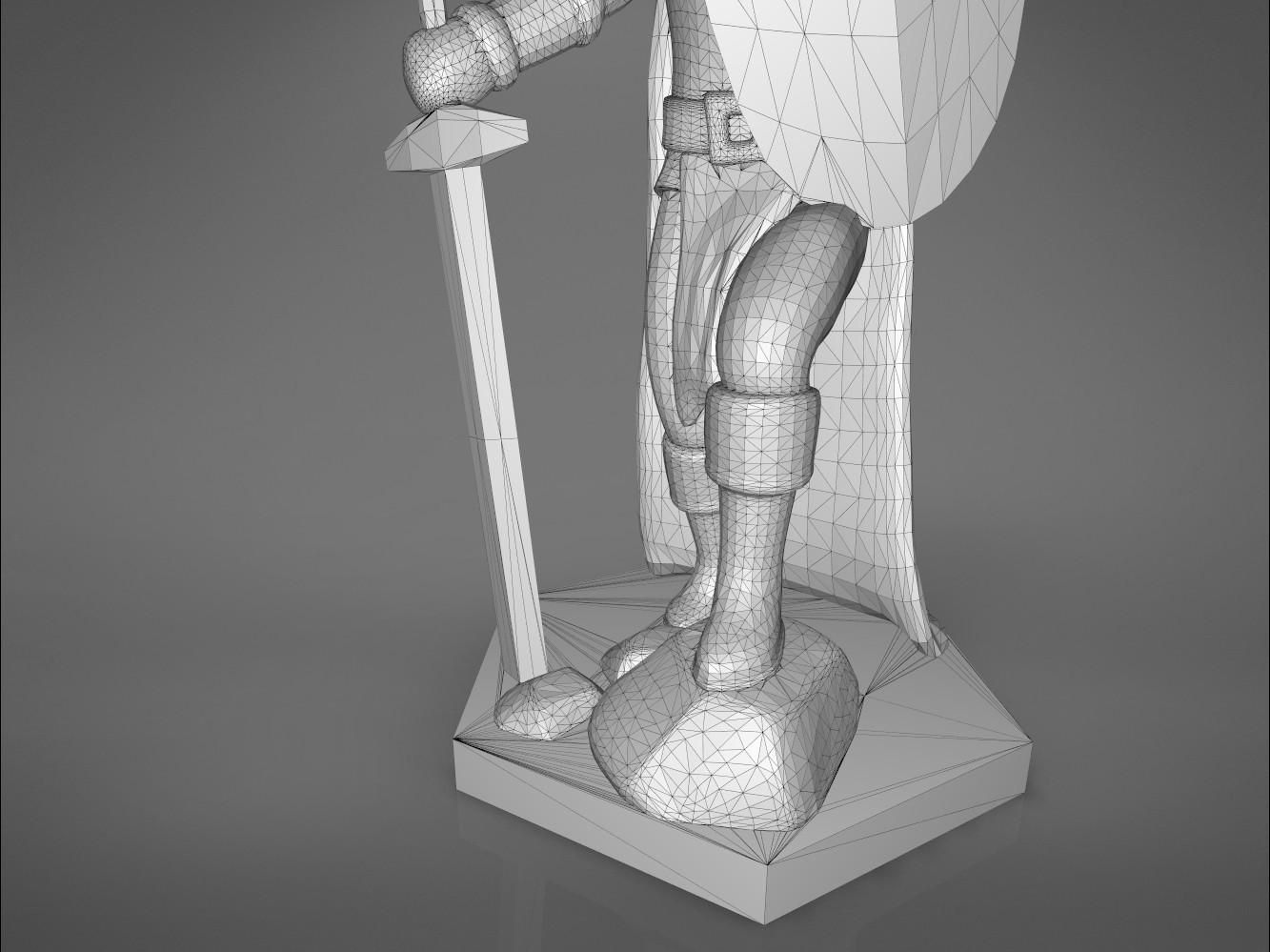 Warrior-detail_2.383.jpg Download STL file ELF WARRIOR CHARACTER GAME FIGURE 3D print model • Object to 3D print, 3D-mon