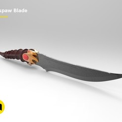 Download 3D printer templates Catspaw Blade Dagger, 3D-mon