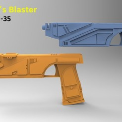 sabine-blaster-WESTAR-35-by.jpg Download STL file Both Sabine Wren Blasters WESTAR-35 • 3D printing model, 3D-mon