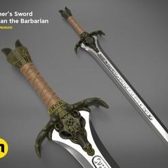 Descargar modelo 3D Espada del Padre - Conan el Bárbaro, 3D-mon
