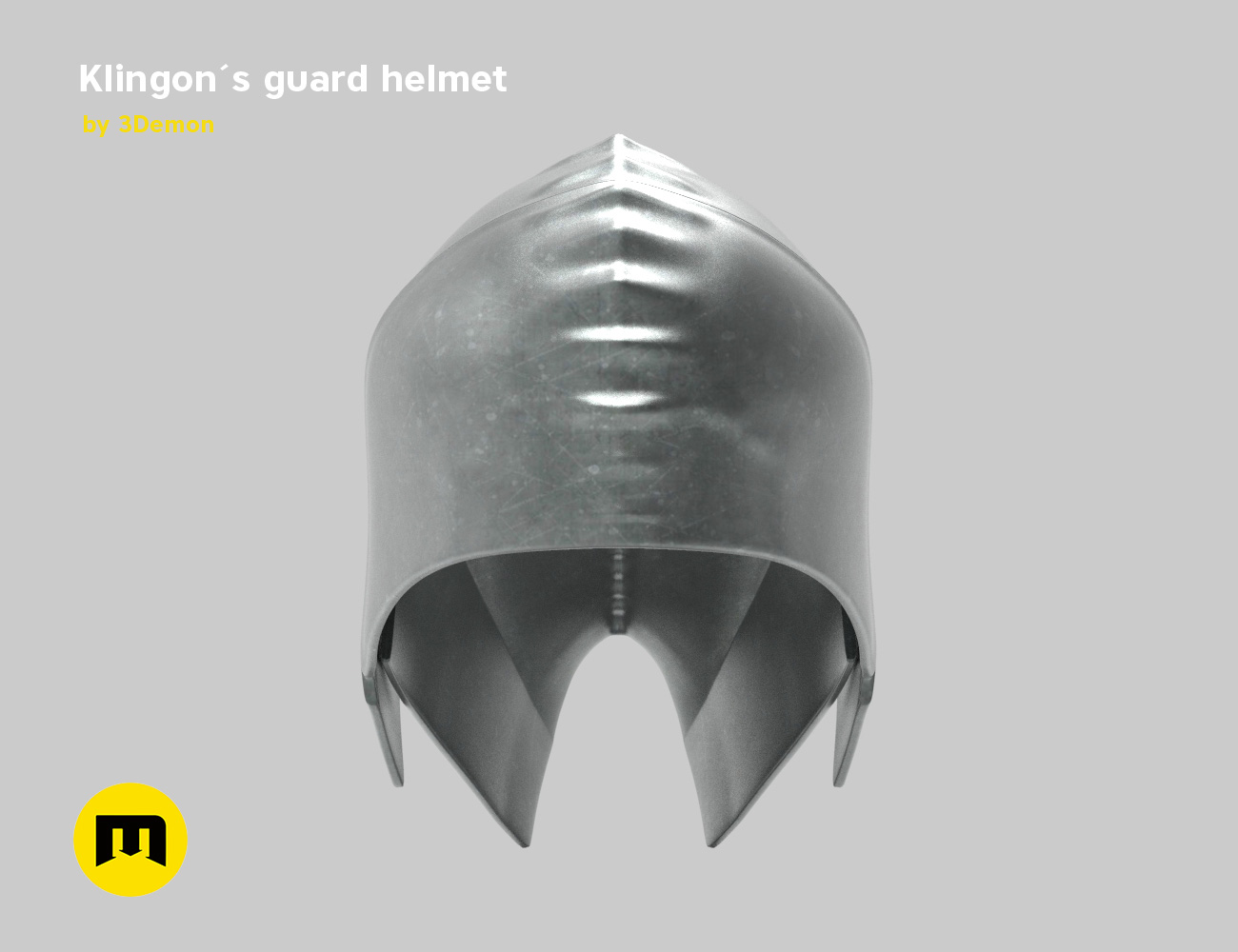 render_klingon_color.52.jpg Download STL file Klingon guard helmet • 3D printer object, 3D-mon