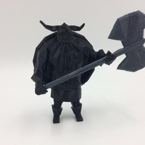 1.jpg Download free STL file Lowpoly Viking • 3D printer design, 3D-mon