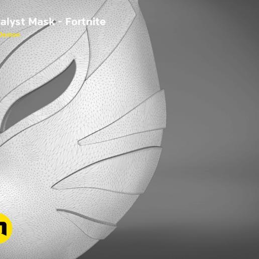 catalyst mask _ keyshot-detail1.410.png Download STL file Fortnite Catalyst Mask • 3D print model, 3D-mon