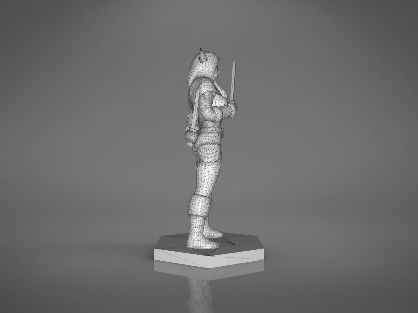 Rogue_2-left_perspective.463.jpg Download STL file ELF ROGUE FEMALE CHARACTER GAME FIGURES 3D print model • 3D printer object, 3D-mon