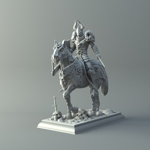 Warrior on horse kit for 3d printing 3d model cults Making models for 3d printing