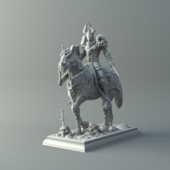 STL Warrior on horse - kit for 3D printing, 3D-mon