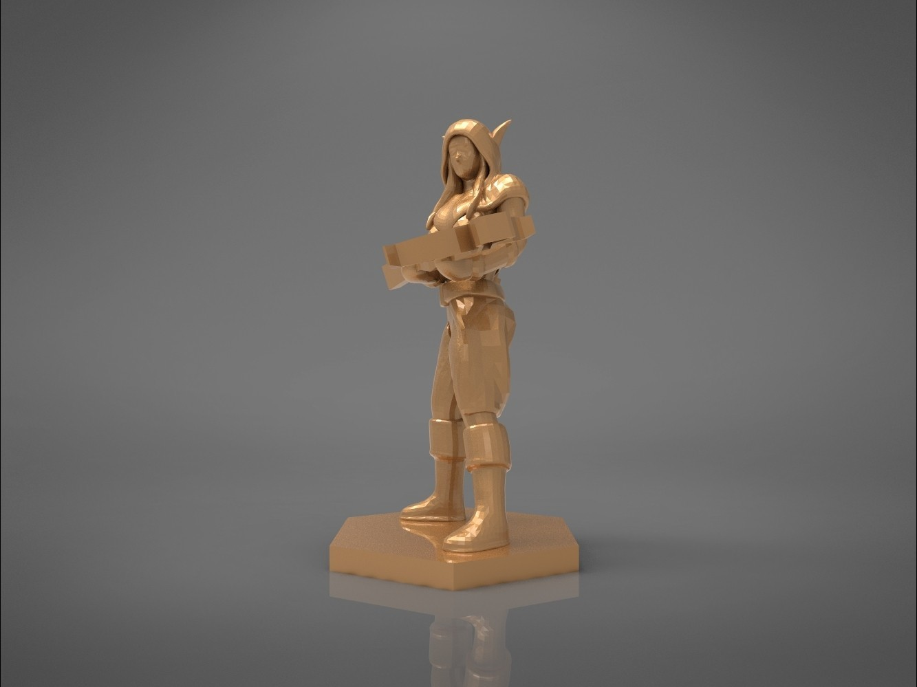 female_ranger-right_perspective.524.jpg Download STL file ELF RANGER FEMALE CHARACTER GAME FIGURES 3D print model • 3D printing object, 3D-mon