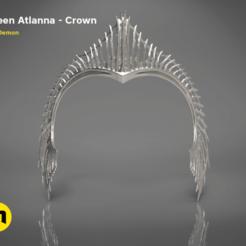 queen-atlanna-crown-front.420.png Télécharger fichier STL Couronne Atlanna • Plan pour impression 3D, 3D-mon