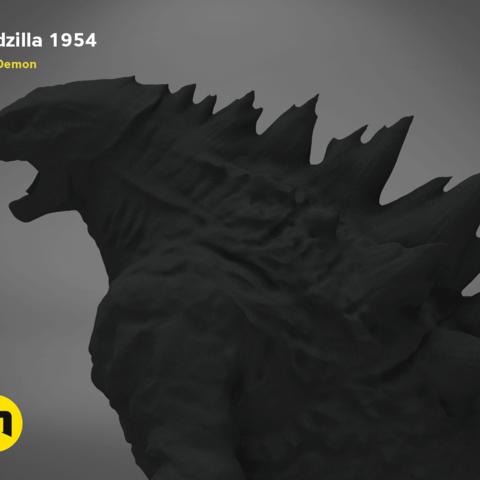 godzilla-black-japanese-detail2.192.png Download free OBJ file Godzilla 1954 figure and bottle opener • 3D printer model, 3D-mon