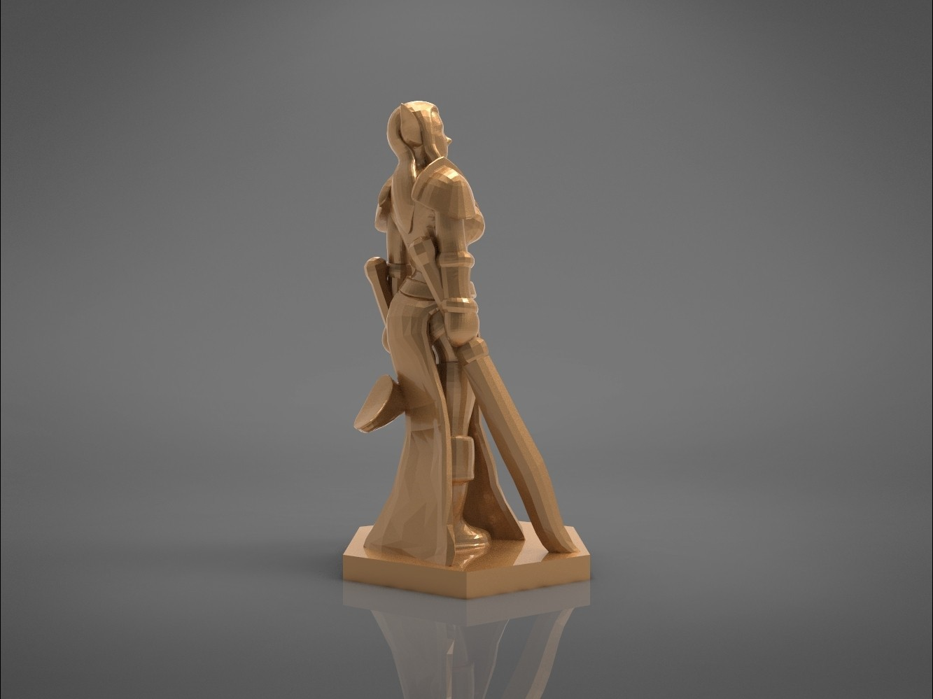 Warrior_2-left_perspective.319.jpg Download STL file ELF WARRIOR FEMALE CHARACTER GAME FIGURE 3D print model • 3D printing object, 3D-mon