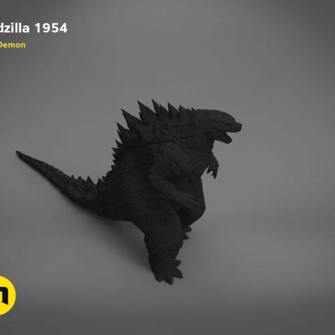 godzilla-black-japanese-left.200.png Download free OBJ file Godzilla 1954 figure and bottle opener • 3D printer model, 3D-mon