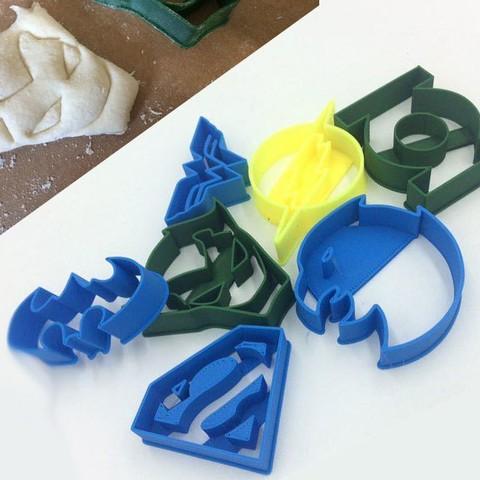 1dc.jpg Télécharger fichier STL Emporte-pièces DC super héros • Design imprimable en 3D, 3D-mon