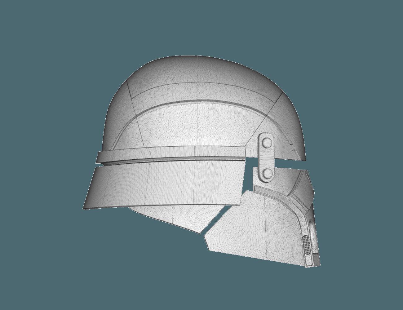 render_scene-left.8.png Download STL file Armory - Knights of Ren Helmet, StarWars model for 3D Print • 3D printing design, 3D-mon
