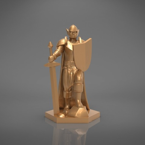 Warrior-front_perspective.363.jpg Download STL file ELF WARRIOR CHARACTER GAME FIGURE 3D print model • Object to 3D print, 3D-mon
